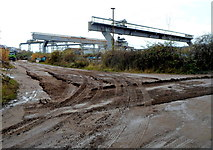 ST5393 : Tracks in the mud, Chepstow by Jaggery