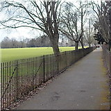 SO6302 : Path between railings, Bathurst Park, Lydney by Jaggery
