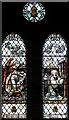 TQ3190 : St Mark, Noel Park - Stained glass window by John Salmon