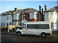 TQ3267 : Evangelical minibus, Bensham Manor Road, Thornton Heath by Christopher Hilton