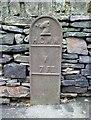 SE2120 : Water main valve marker post, Church Lane by Humphrey Bolton