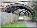 SE2123 : Bridge arches in the Heckmondwike Cutting by Humphrey Bolton