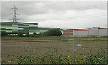 ST3139 : Near the south end of Morrison's distribution centre by Robin Stott