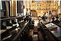 SK7953 : St.Mary's choir stalls by Richard Croft