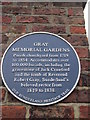 NZ4057 : A plaque at Gray Memorial Gardens, Sunderland by Ian S