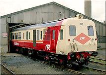 J3475 : Ex-works railcar, Belfast by Albert Bridge