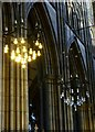 TQ1906 : Pillars and lights, Lancing College Chapel by nick macneill