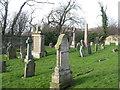 NT0882 : Memorials in Rosyth Church graveyard by M J Richardson