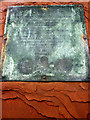 NY5218 : Close-up of the plaque - memorial, St Patrick's Church, Bampton Grange by Karl and Ali