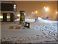 TG5202 : The front entrance of James Paget Hospital in the snow by Adrian Cable