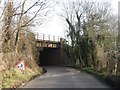 TQ4868 : Rail bridge over Sheepcote Lane by Alex McGregor
