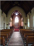 TQ9258 : Nave and chancel of St. Catharine's church, Kingsdown by pam fray