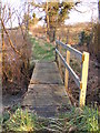 TM4262 : Footbridge of the footpath to Church Road by Geographer