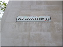 TQ3081 : Street sign, Old Gloucester Street WC1 by Robin Sones