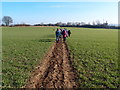 TL0131 : Walking group heading towards the M1 by Michael Trolove