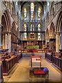 NY9364 : Hexham Abbey, Altar and East Window by David Dixon
