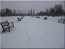TQ2882 : Snow-covered Regent's Park NW1 by Robin Sones