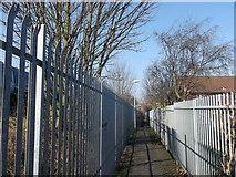 TQ7868 : Footpath to Ingram Road, Gillingham by David Anstiss