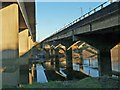 ST3189 : The M4 Motorway River Usk crossing (5) by Robin Drayton