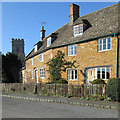 SK8101 : Belton-in-Rutland: cottages and tower by John Sutton