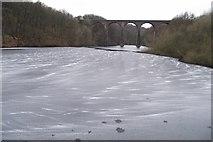 SD7217 : Partly frozen Wayoh Reservoir by Philip Platt