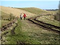 NT3660 : Walking on the former Waverley Railway Line at Borthwick by Walter Baxter