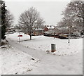 ST3091 : Icy path to Japonica Close, Malpas, Newport by Jaggery