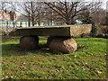 TQ4179 : Stone sculpture, Eastmoor Street garden by Stephen Craven
