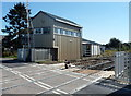 SO4383 : Craven Arms Crossing signalbox by Jaggery