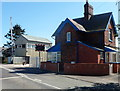 SO4383 : House and signalbox, Long Lane level crossing, Craven Arms by Jaggery