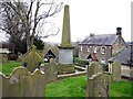 NZ1665 : Obelisk of Hawthorn tomb, Church of St. Michael & All Angels, Newburn by Andrew Curtis