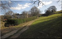 SX7087 : Track past Footaway House by Derek Harper