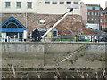 ST3037 : Crane - West Quay, Bridgwater by Chris Allen