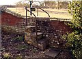 SU4980 : Wall stile from St Mary's churchyard by Steve Daniels