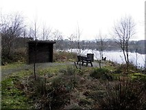 H5776 : Small shelter and seat, Loughmacrory Lough by Kenneth  Allen