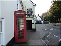 ST8026 : Gillingham: red phone box on the High Street by Chris Downer