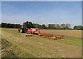 TL3976 : Tractor, baler and bale accumulator with bales by Andrew Tatlow