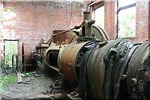 SS6694 : Landore Works - ruined steam engine by Chris Allen