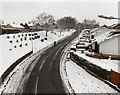 ST3091 : Snowy bank and bungalows, Pilton Vale, Malpas, Newport by Jaggery