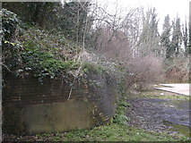 TQ7668 : Wall behind the (former) Lampard Centre, Brompton by David Anstiss
