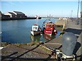 NY0336 : Campbell Dock, Maryport, near high tide by Christine Johnstone