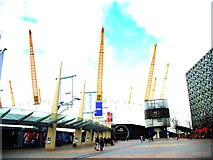 TQ3980 : View of the O2 from the path heading towards the Emirates Air Line by Robert Lamb