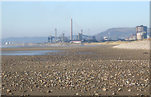 SS7782 : Port Talbot Steelworks viewed from Kenfig Sands by eswales