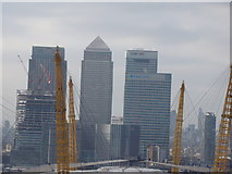 TQ3980 : View of Canary Wharf from the Emirates Air Line by Robert Lamb