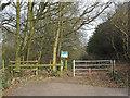 TQ6886 : Willow Park Entrance, Langdon Nature Reserve by Roger Jones
