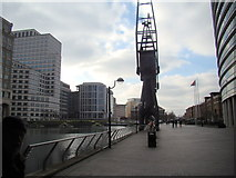 TQ3780 : View along West India Quay from the path by Robert Lamb