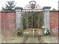 NT2159 : Garden gates at Penicuik by M J Richardson