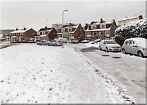 ST3090 : Icy road and pavements, Alder Grove, Malpas, Newport by Jaggery