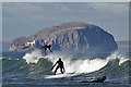 NT6579 : Surfing at Belhaven Bay by Walter Baxter