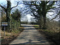 SJ4873 : Peck Mill Lane looking east by Colin Pyle